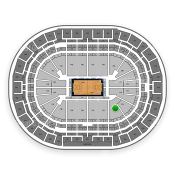 Denver Nuggets at Pepsi Center Section 120 View