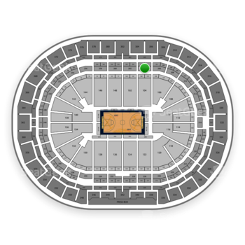 Denver Nuggets at Pepsi Center Section 204 View