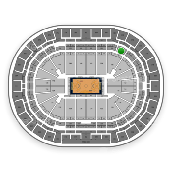 Denver Nuggets at Pepsi Center Section 208 View