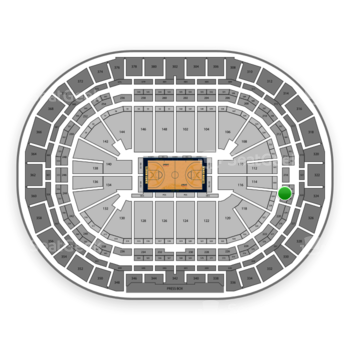 Denver Nuggets at Pepsi Center Section 218 View