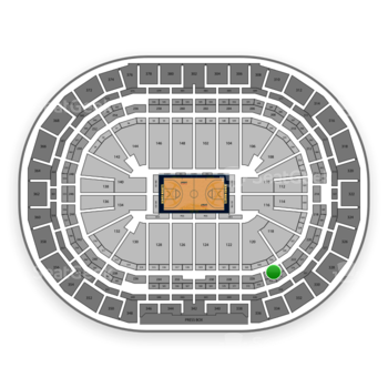 Denver Nuggets at Pepsi Center Section 224 View