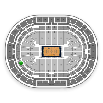 Denver Nuggets at Pepsi Center Section 242 View