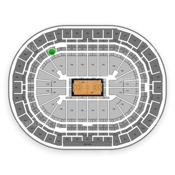 Denver Nuggets at Pepsi Center Section 254 View