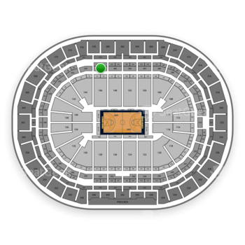 Denver Nuggets at Pepsi Center Section 258 View