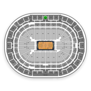 Denver Nuggets at Pepsi Center Section 302 View