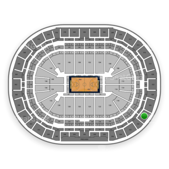 Denver Nuggets at Pepsi Center Section 328 View