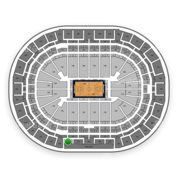 Denver Nuggets at Pepsi Center Section 346 View