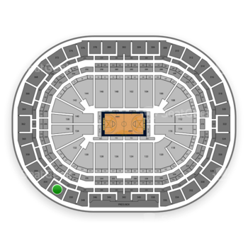Denver Nuggets at Pepsi Center Section 352 View