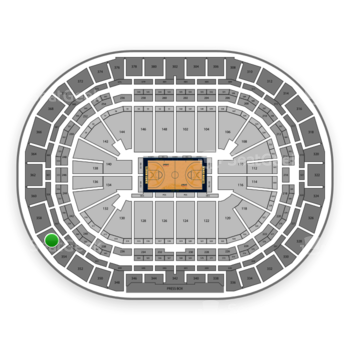 Denver Nuggets at Pepsi Center Section 356 View