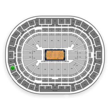 Denver Nuggets at Pepsi Center Section 358 View