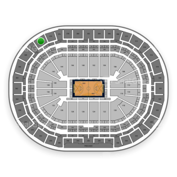 Denver Nuggets at Pepsi Center Section 372 View