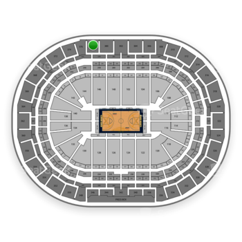 Denver Nuggets at Pepsi Center Section 378 View