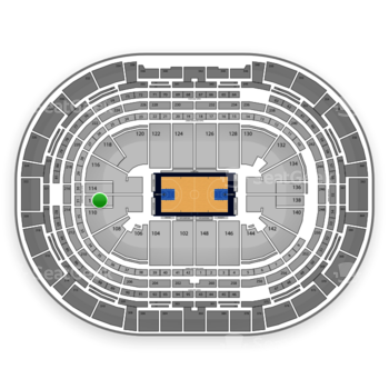 Denver Nuggets at Pepsi Center Section 112 View
