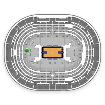Denver Nuggets at Pepsi Center Section 114 View
