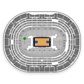 Denver Nuggets at Pepsi Center Section 116 View