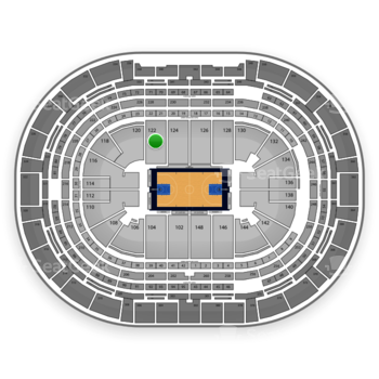 Denver Nuggets at Pepsi Center Section 122 View