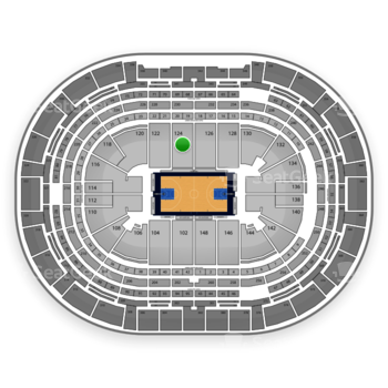 Denver Nuggets at Pepsi Center Section 124 View