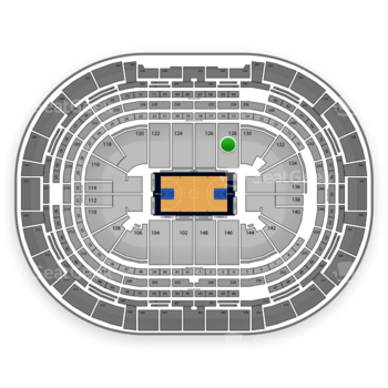 Denver Nuggets at Pepsi Center Section 128 View