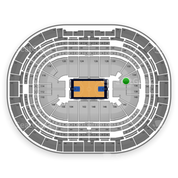 Denver Nuggets at Pepsi Center Section 134 View
