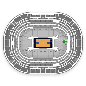 Denver Nuggets at Pepsi Center Section 136 View