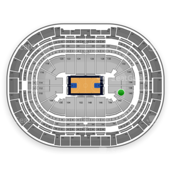 Denver Nuggets at Pepsi Center Section 140 View