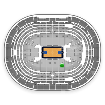 Denver Nuggets at Pepsi Center Section 146 View
