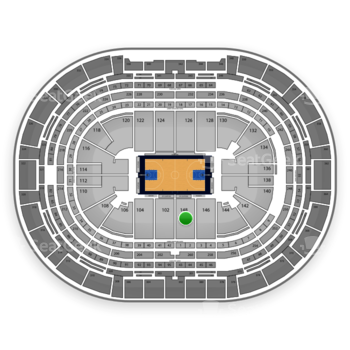 Denver Nuggets at Pepsi Center Section 148 View