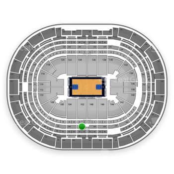 Denver Nuggets at Pepsi Center Section 202 View
