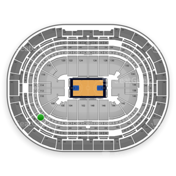 Denver Nuggets at Pepsi Center Section 210 View