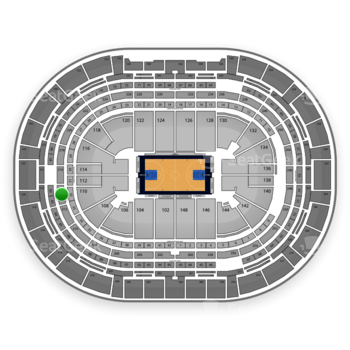Denver Nuggets at Pepsi Center Section 214 View
