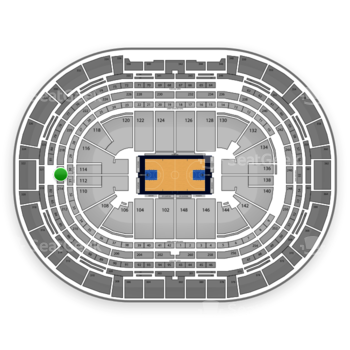 Denver Nuggets at Pepsi Center Section 216 View