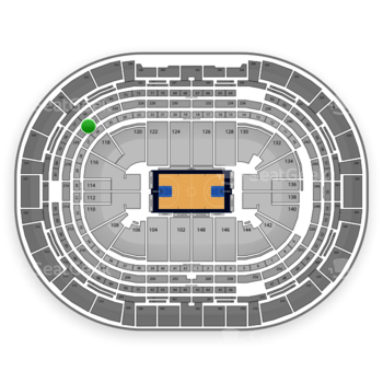 Denver Nuggets at Pepsi Center Section 222 View