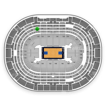 Denver Nuggets at Pepsi Center Section 226 View