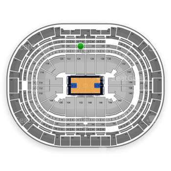 Denver Nuggets at Pepsi Center Section 230 View