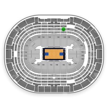 Denver Nuggets at Pepsi Center Section 234 View