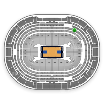 Denver Nuggets at Pepsi Center Section 238 View