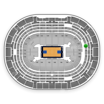 Denver Nuggets at Pepsi Center Section 244 View