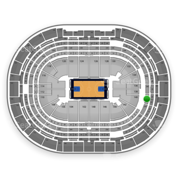 Denver Nuggets at Pepsi Center Section 248 View