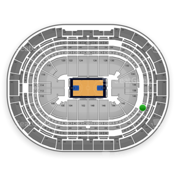 Denver Nuggets at Pepsi Center Section 250 View