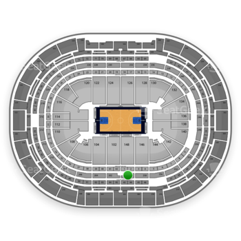 Denver Nuggets at Pepsi Center Section 260 View
