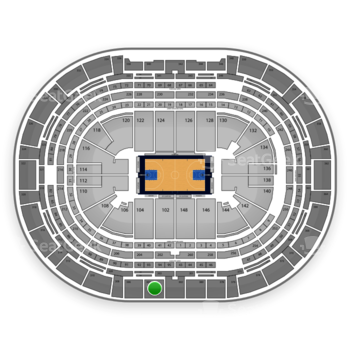 Denver Nuggets at Pepsi Center Section 304 View
