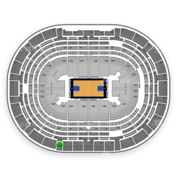 Denver Nuggets at Pepsi Center Section 308 View