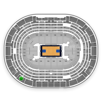Denver Nuggets at Pepsi Center Section 312 View