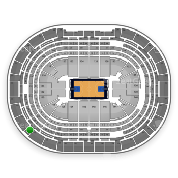 Denver Nuggets at Pepsi Center Section 314 View