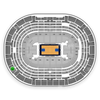 Denver Nuggets at Pepsi Center Section 316 View