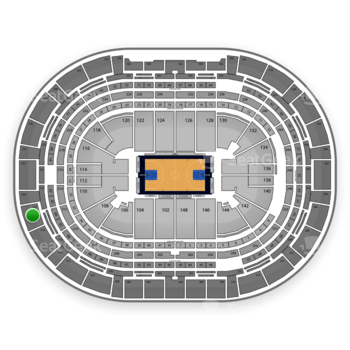 Denver Nuggets at Pepsi Center Section 318 View