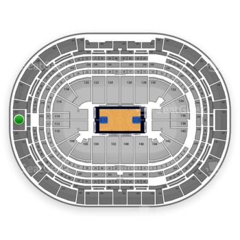 Denver Nuggets at Pepsi Center Section 322 View