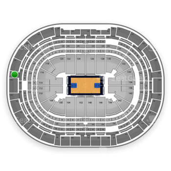Denver Nuggets at Pepsi Center Section 324 View