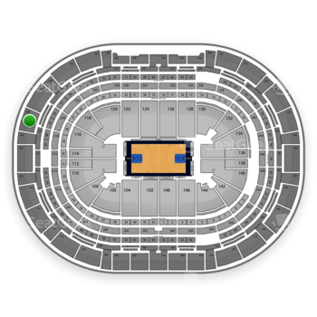 Denver Nuggets at Pepsi Center Section 326 View