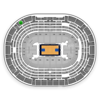 Denver Nuggets at Pepsi Center Section 332 View